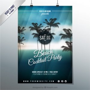 event flyer templates free download cocktail party poster