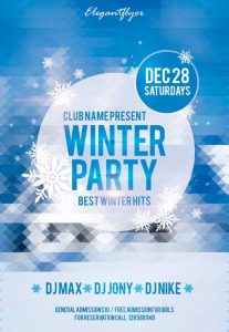 event flyer templates free download winter party free club and party flyer psd template