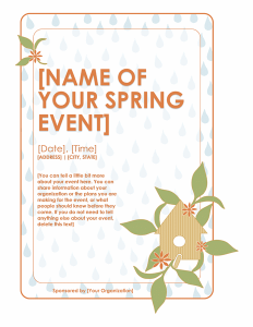 event flyer templates free spring event flyer