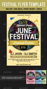 event invitation templates festival party june flyer poster template preview