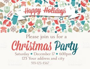 event invitation templates retro inspired christmas party invitation template vector id