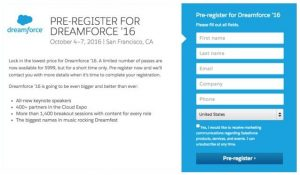 event landing page event landing page dreamforce