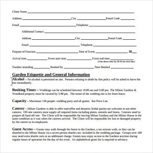 event planner contract wedding event contract template