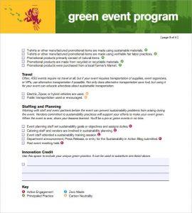 event program template green event program template