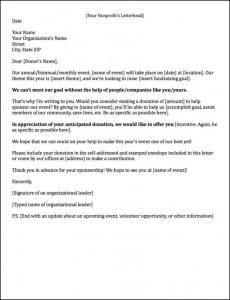 event sponsorship letter event sponsorship letter x