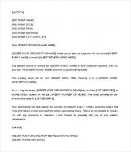 event sponsorship letter sponsorship proposal letter for an event word doc