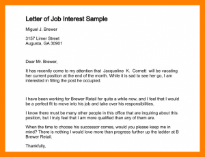 eviction letter sample email of interest for a job email for job interest letter of job interest sample