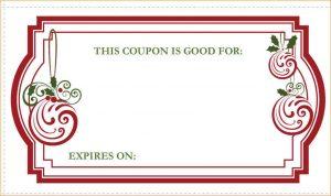 example basic resume christmas coupon template christmas coupons image