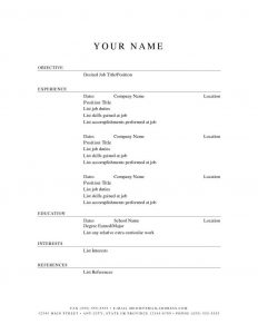 example basic resume free easy resume template resumes download templates best o throughout easy resume template free