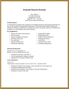 example college resume experience on a resume template tdnvuh
