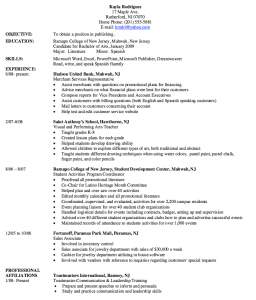 example college resume merchant service representative resume sample