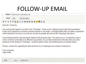 example follow up email follow up email
