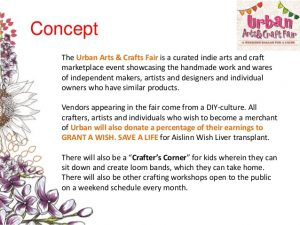 example grant proposal urban arts craft fair sample proposal