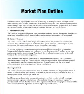 example of a marketing plan sample marketing plan outline pdf