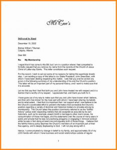 example of a recommendation letter church membership resignation letter