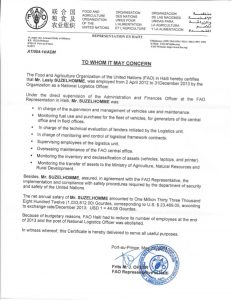 example of a recommendation letter letter of recommendation of suzelhomme fao