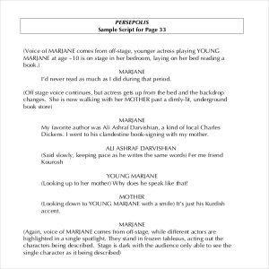 example of a script sample novel script writing template