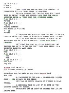example of a script screen shot at