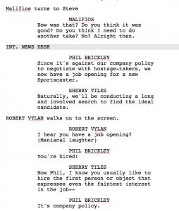 example of a script script example