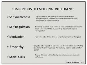 example of a smart goal emotional intelligence