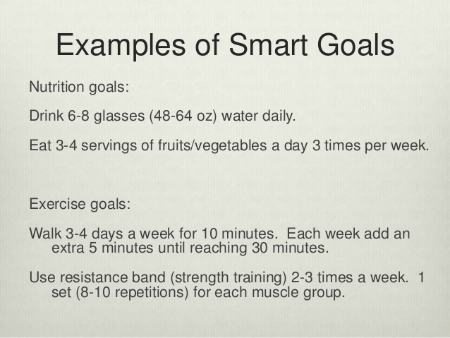 example of a smart goal