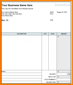 example of an autobiography billing format for construction
