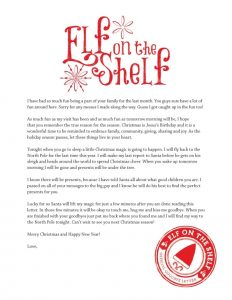 example of application letter printable goodbye letter from elf on the shelf balancing home regarding elf on the shelf letter