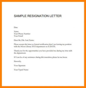 example of application letter resignation letter format for marriage reason