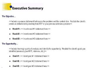 example of grant proposal executive summary proposal template