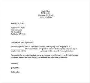 example resignation letter weeks resignation letter example pdf free download min