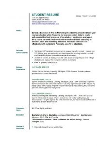 example student resume college student resume