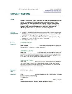 example student resume college student resume examples