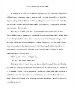 examples of descriptive essays personal descriptive essay example