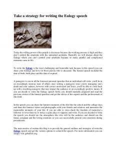 examples of eulogies slide