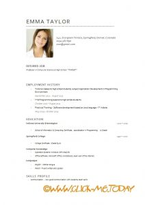 examples of high school resumes english cv example download sample customer service resume english intended for english resume template