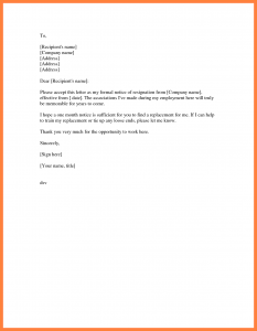 examples of letter of resignation month resignation letter simple resignation letter month notice