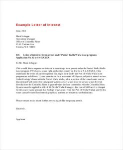 examples of letters of interest letter of interest example
