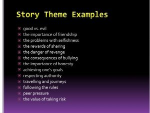 examples of life goals story theme examples n