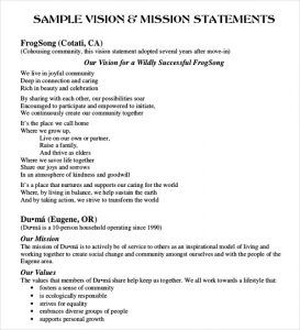 examples of mission statements mission statement examples free premium templates intended for examples of mission and vision statements template