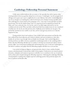 examples of personal statements sample fellowship personal statement