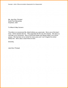 examples of reference letters example of a recommendation letter examples of a recommendation letter