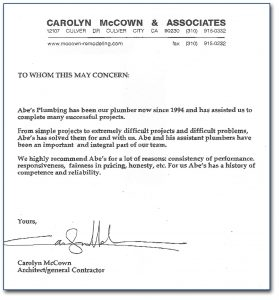 examples of reference letters letter of recommendation