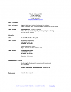 examples of resumes for high school students sample resumes for high school students for a resume sample of your resume