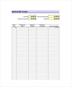 excel bill tracker bill tracker excel template
