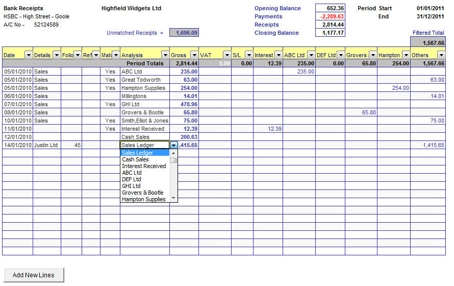 excel cash flow template