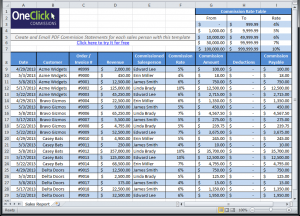 excel expense report template commission report template excel