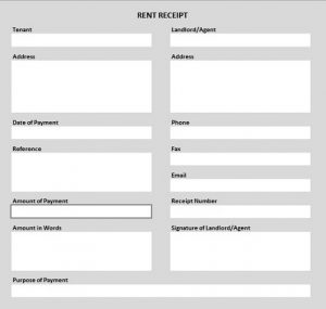 excel form templates rent receipt shaded thumbnail