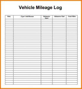 excel mileage log mileage log sheet mileage log template pdf