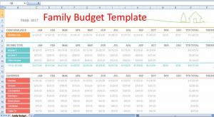 excel pay stub template family budget template