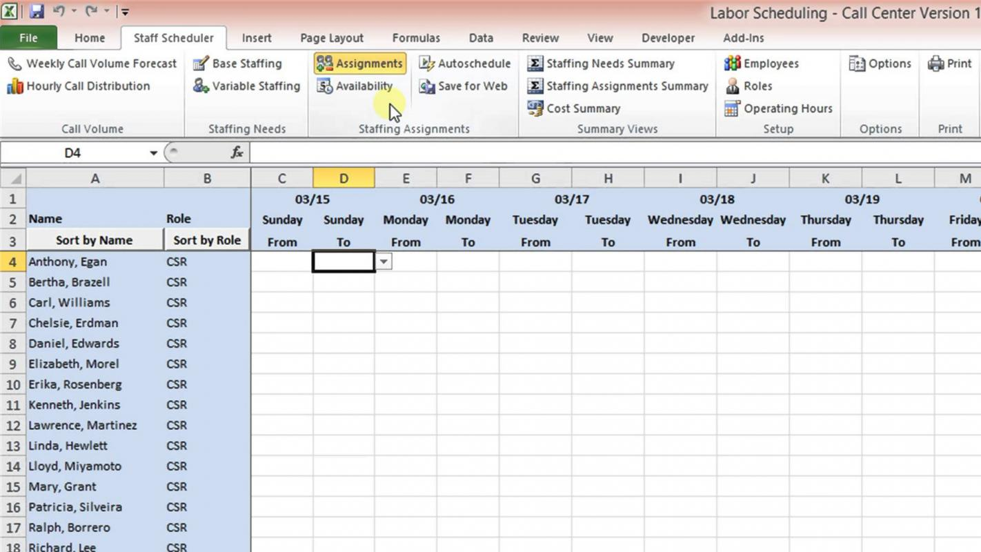 excel report template